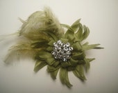 Sage Green Mini Cele Barrette