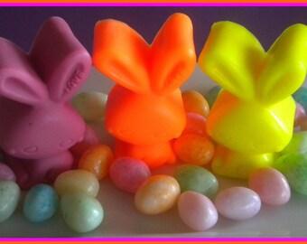 Easter Basket Filler - Soap - Easter Bunny - Rabbit - Set of 3 - Pink, Yellow, and Orange - Soap for Girls - Easter Soap
