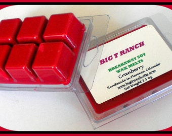 Cranberry - Soy Breakaway Melts - Tarts - Highly Scented