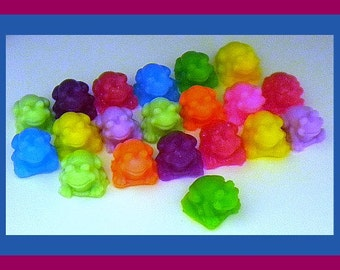 Soap - Frogs - Mini Frogs - 20 Soaps - Party Favors - Birthdays - Soap for Kids - Mini Soap Favors