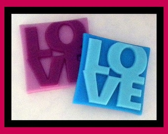 Soap - Love - Valentine's Day - Weddings - Party Favors - Bridal Showers - You Choose Colors and Scent