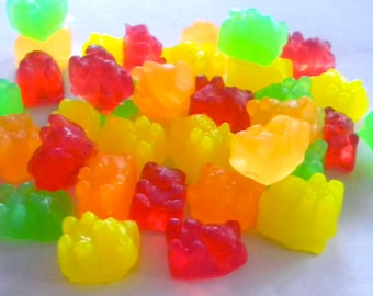 Fruity Bear Gummy Candy Soap - 45 Mini Soaps -  Soap for Kids - Party Favors - Birthdays