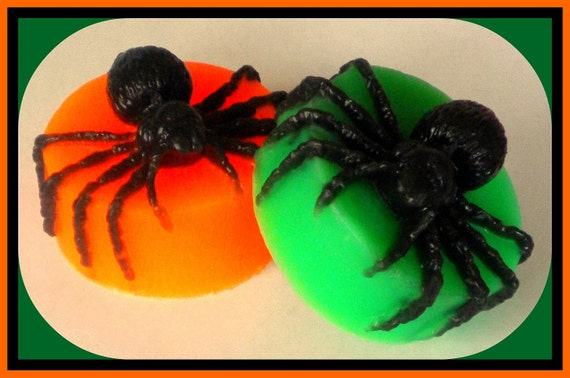 Halloween Soap - Spider - Party Favor - Halloween - Haunted House - Bath Decor - 3-D - You Choose Color/Scent - Soap for Kids
