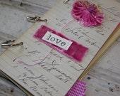 SALE Valentine Love Journal Scrapbook Kit