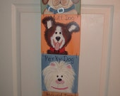 DOGS  DOGS  DOGS  DOOR OR WALL HANGER