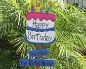 Personalized Happy Birthday Garden Stake