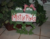 Toadally Mistletoads wall hanger
