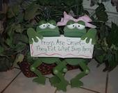 Toad-ally Frogs wall/door hanger