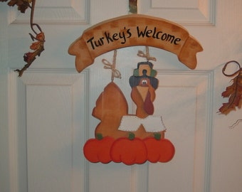 Turkey's Welcome Door Welcome Decor