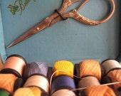 Vintage blue sewing kit