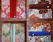 Stylish and fabulous checkbook cover or coupon\/receipt holder - choose from 4 fabrics