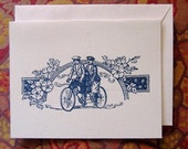 Bicycle Romance - Hand-printed Greeting Cards