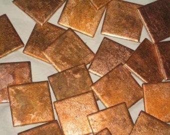Copper ceramic tile