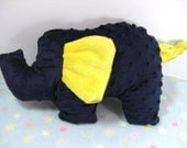 Baby Lovie Elephant - Navy Blue and Yellow