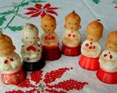 Gurley Choir CANDLE Caroler figures 1950s Christmas lot of 6