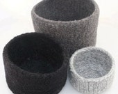 Felted wool nesting bowls gray gardens