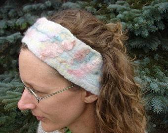 Felted Wool Pastel Peacock Felt Headband