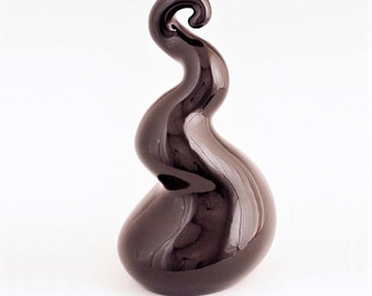Sculpture Ceramic Abstract FLAMINGO  black Ltd ed 75