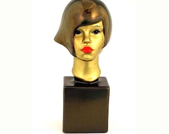 Sculpture Ceramic Bust Female EGYPTIAN SERENA  Uniquely embellished Ltd ed 75