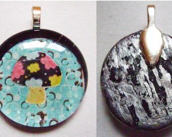 Groovy Mushroom Glass Pendant