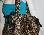 SALE! Cheetah & Plaid Tied-Up Tote Bag