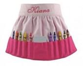 Kids Crayola Crayon Apron Pink Art Apron
