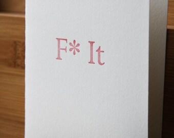 F It - set of 6 letterpress notecards