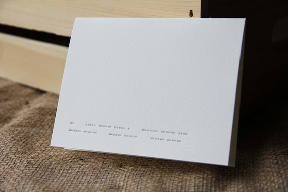 Morse code - I love you, xo xo xo letterpress note card