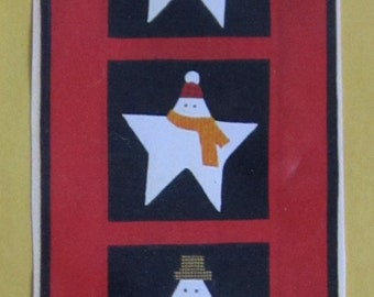 Starry Snowman Wall Hanging pattern