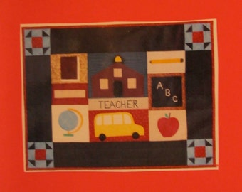 Apple for the Teacher Wall Hanging Pattern