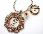 Necklace, Let them Eat Cake, Marie Antoinette - FREE SHIPPING WORLDWIDE