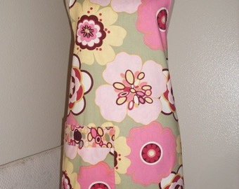 SALE   Kleo Apron in Sage and Pink