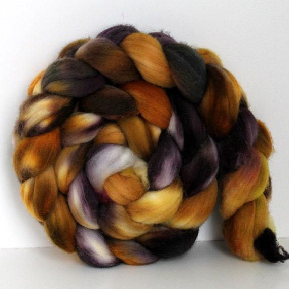 TIGER  EYE -  Merino Wool Top Roving 4oz
