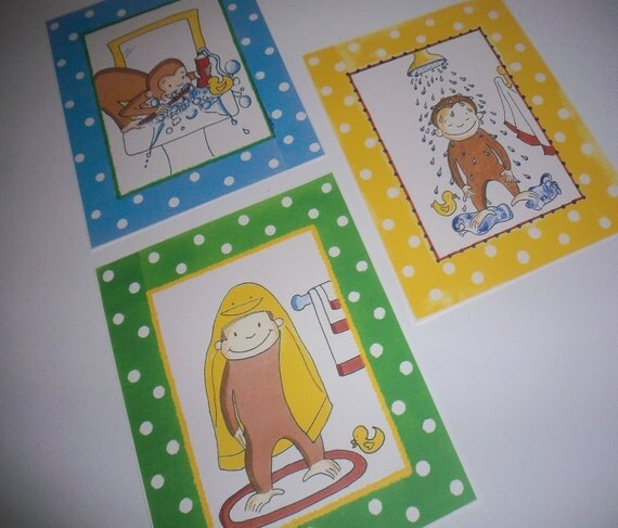 Curious George Bathroom by Curious George Bathroom Bath Art Prints All  3 Prints For. 28    Curious George Bathroom     37 Best Baby Shower Cakes Images