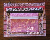 PATTERN for Clear Zipper Makeup Bags in 3 sizes PDF FQ friendly