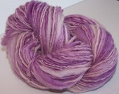 Amethyst Thick and Thin single ply yarn 70 yards