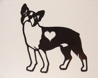 Boston Terrier GARDEN STAKE Lawn Yard Dog Pet Memorial