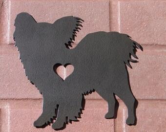 Papillon GARDEN STAKE Lawn Yard Decoration Dog Pet Memorial K9