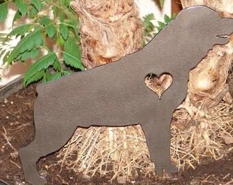 Rottweiler Pet Memorial GARDEN STAKE Yard Lawn Decor K9 Dog