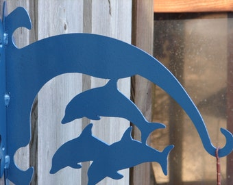 Dolphin PLANT HANGER Hanging Hook Metal Patio Yard