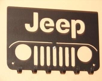 Jeep KEY RACK Hat Coat Hook Leash 4 x 4 Wheeler Orv Hanging Hook CJ