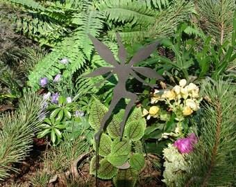 FAIRY SHADOW Garden Stake Yard Decor Lawn Ornament Metal Art Magical Mystical 8
