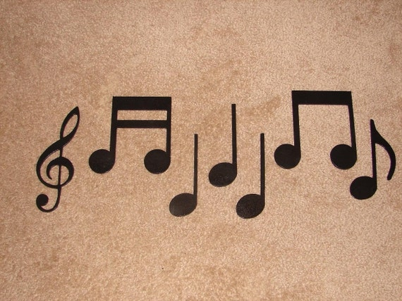 metal wall art decor music notes musical note. Black Bedroom Furniture Sets. Home Design Ideas