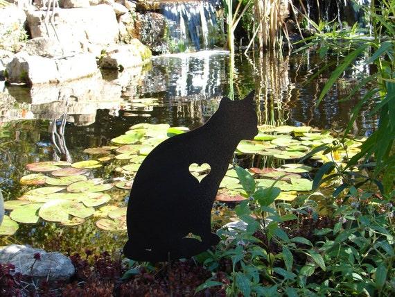 Pet Cat Memorial Garden Stake Yard Lawn Feline Kitty