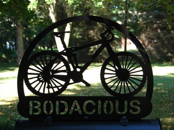 Custom Bicycle Mailbox Topper Metal Address Sign By Artbyjack