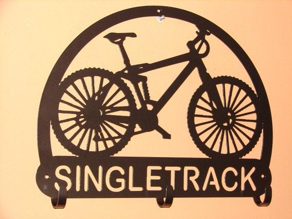 Custom Bicycle HELMET RACK  Metal Sign Personalized Mountain Bike Biker