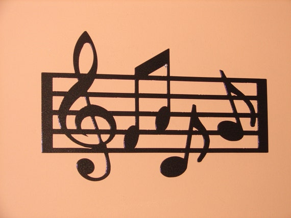 METAL WALL ART HOME DECOR MUSIC NOTES MUSICAL NOTE 18.5in LONG 12in TALL