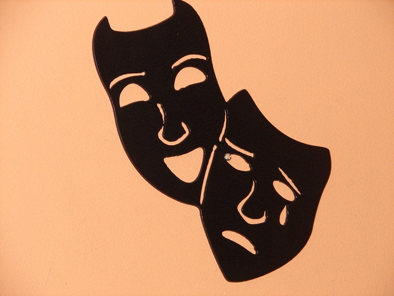 home theater mask metal wall art decor movie film by artbyjack. Black Bedroom Furniture Sets. Home Design Ideas