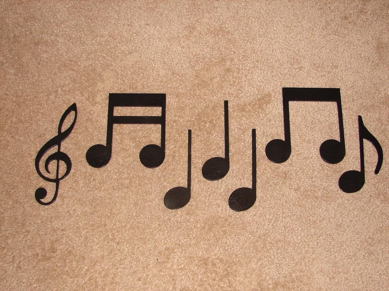 Metal Wall Decor With Musical Notes : Metal wall art decor music notes musical note
