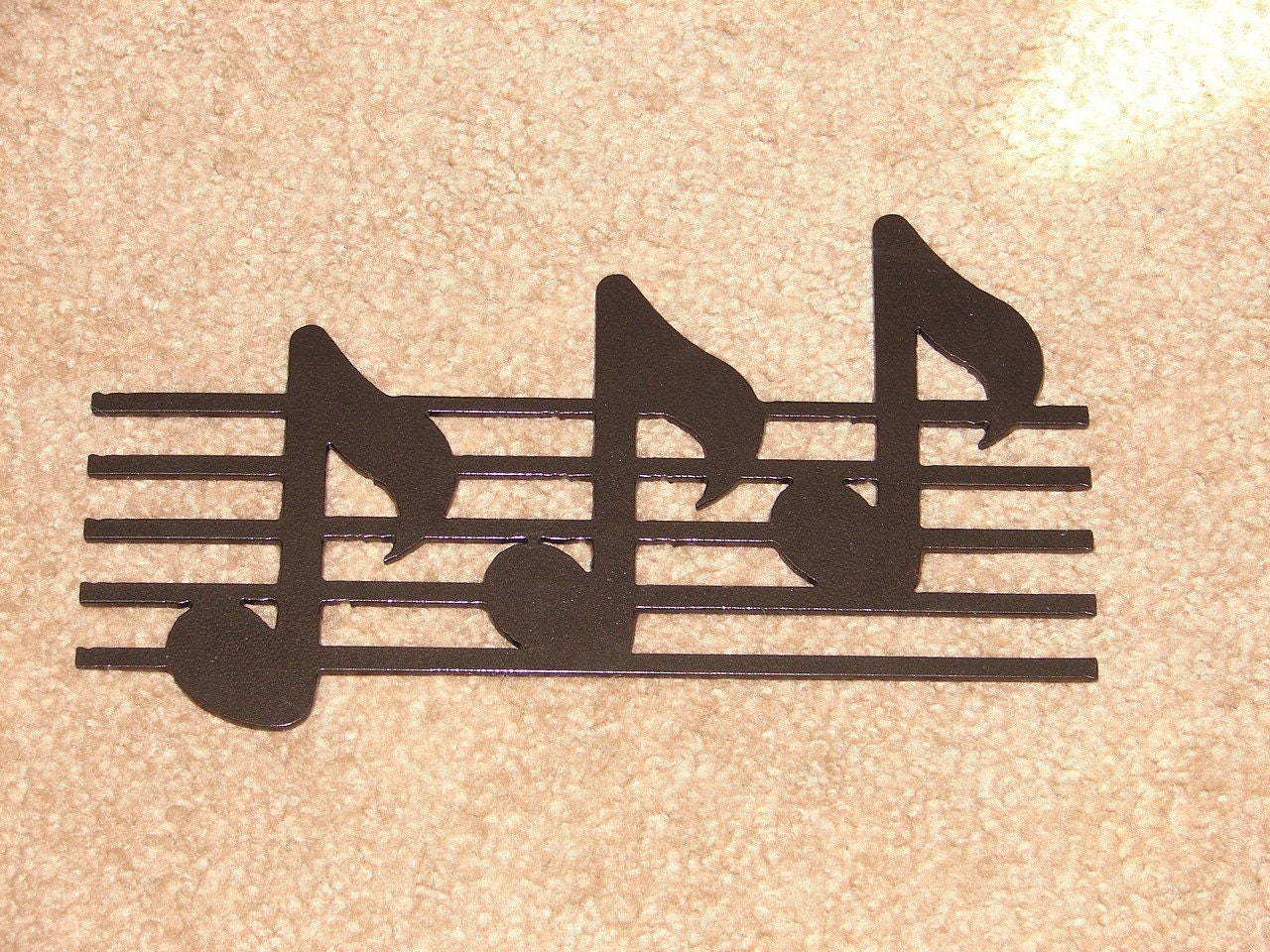Metal WALL ART Decor Music Notes Musical Note